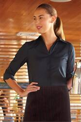 Finesse Womens 3/4-Sleeve Fitted Shirt
