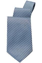 Blue Check Tie