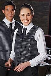 Womens Brocade Vest: Blue Dot