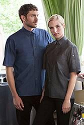 Detroit Short-Sleeve Denim Shirt