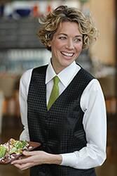 Womens Brocade Vest: Polka Dot