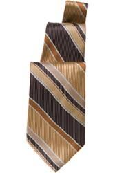 Brown/Gold Striped Tie