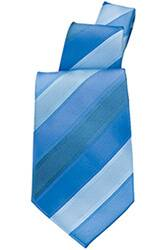 Blue Six Stripe Tie