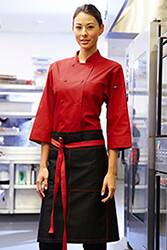 Wide Half Bistro Apron with Contrast Ties