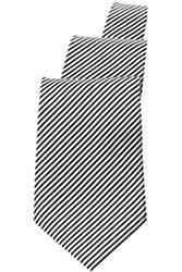 Silver/Black Striped Tie