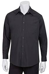Mens Black Essential Dress Shirt