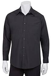 Mens Black Essential Dress Shirt